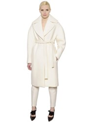 Delpozo Belted Wool Effect Silk Coat