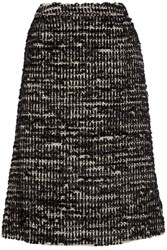 Simone Rocha Metallic Tweed Midi Skirt Black