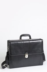 Bosca Men's Double Gusset Briefcase Black