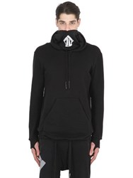11 By Boris Bidjan Saberi Hooded Cotton Sweatshirt With Thumbholes