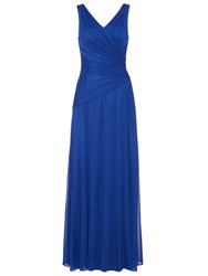 Anoushka G Mara Mesh Maxi Dress Blue