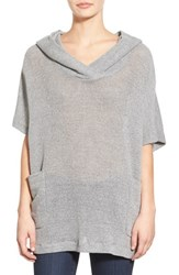Women's James Perse Cotton Mesh Hooded Sweatshirt