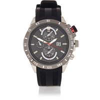 River Island Mens Black Rubber Sports Watch