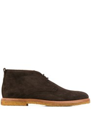 Tod's Lace Up Desert Boots Brown