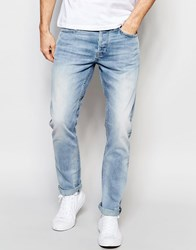 Only And Sons Light Wash Straight Fit Jeans Light Blue