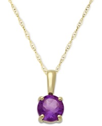 Macy's Amethyst Pendant Necklace In 14K Gold 5 8 Ct. T.W.