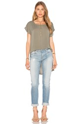 Splendid Hi Low Tee Olive