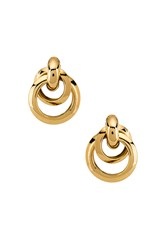 Ettika Multi Hoop Earrings Metallic Gold