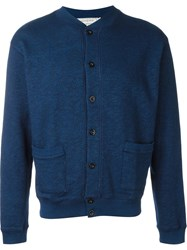 Maison Kitsune Buttoned 'Teddy' Cardigan Blue