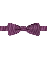 Ryan Seacrest Distinction Vertical Ribbed Solid To Tie Bow Tie Berry