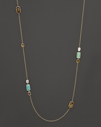 Ippolita 18K Gold Rock Candy Gelato 10 Stone Rectangle Necklace In Sailor 37