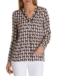 Betty Barclay Graphic Print Blouse Cream Red