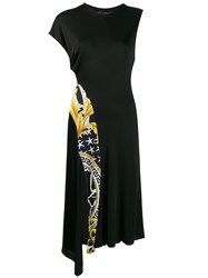 Versace Baroque Zebra Panel Dress Black