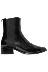 Loewe Woman Leather Ankle Boots Black