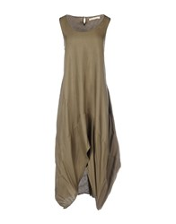 Bolongaro Trevor Long Dresses Military Green