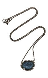 Kimberly Mcdonald Dark Geode And Diamond Pendant Black