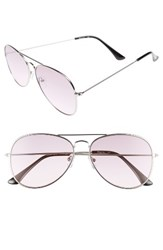 Sam Edelman Women's Circus By 56Mm Aviator Sunglasses Silver Purple Lens Silver Purple Lens