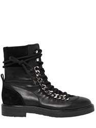 Casadei 30Mm Chained Leather And Suede Boots