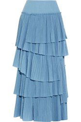 Sonia Rykiel Tiered Plissa Cotton Maxi Skirt