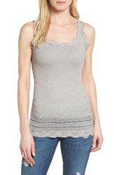 Rosemunde Women's Silk And Cotton Rib Knit Tank Light Grey