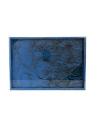 Edie Parker Marble Effect Tray Blue