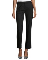 Diane Von Furstenberg Stretch Wool Cigarette Pants Black