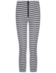 Lisa Marie Fernandez Black Striped Hannah Leggings Print