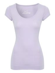 Jane Norman Deep Hem T Shirt Purple