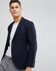 Selected Homme Slim Fit Patch Pocket Blazer In Woven Fabric Black