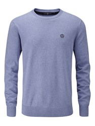 Henri Lloyd Men's Moray Regular Crew Neck Knit Jumper Blue