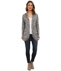 Bench Aqueduct Cardigan Dark Shadow Marl Women's Sweater Gray