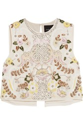 Needle And Thread Ornate Embelllished Georgette Top Off White