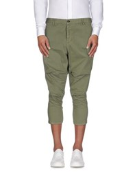 Xagon Man Trousers 3 4 Length Trousers Men Military Green