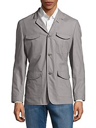 Vince Camuto Cotton Blend Blazer Light Grey