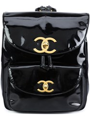 Chanel Vintage Flap Backpack Black