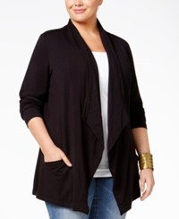 Styleandco. Style Co. Plus Size Draped Cardigan Only At Macy's Deep Black