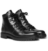 Common Projects Leather Boots Black