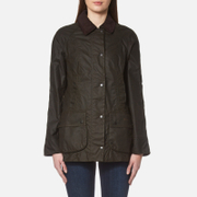 Barbour Women's Classic Beadnell Wax Jacket Olive Green