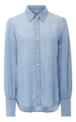 Frame Denim Button Down Shirt Light Blue
