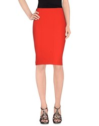 Hope Collection Skirts Knee Length Skirts Women Red