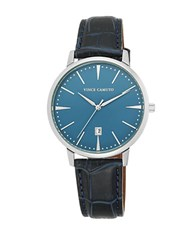 Vince Camuto Leather Strap Watch Black