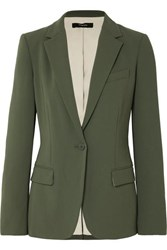 Theory Crepe Blazer Army Green