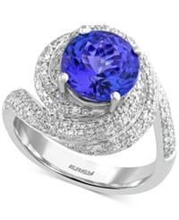 Effy Collection Effy Tanzanite 2 7 8 Ct. T.W. And Diamond 9 10 Ct. T.W. Ring In 14K White Gold Purple
