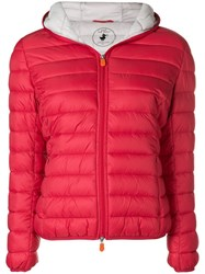 Save The Duck Padded Puffer Jacket Red