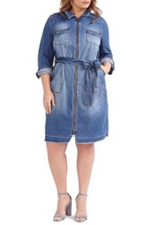 Addition Elle Love And Legend Plus Size Women's Denim Shirtdress