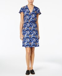 G.H. Bass And Co. Floral Print Shift Dress Royal Combo