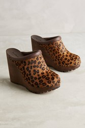 Anthropologie See By Chloe Studded Wood Mules Neutral Motif