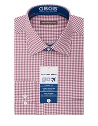 Geoffrey Beene Gingham Print Dress Shirt Pomegranate