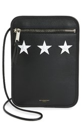 Givenchy Men's White Stars Medium Leather Crossbody Pouch