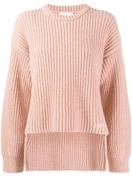 Genny Ribbed Design Jumper Neutrals